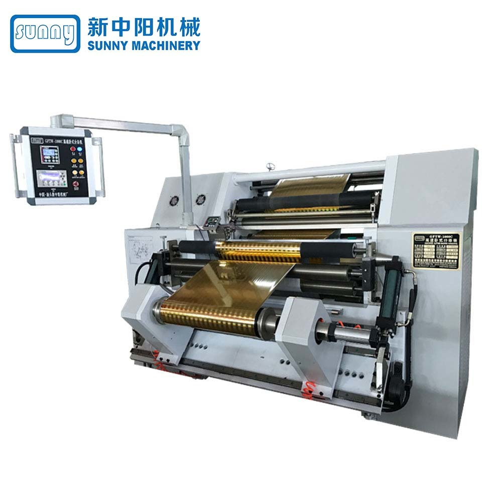 High Speed Film Slitting Machine Horizontal Type Model GFTW1000C