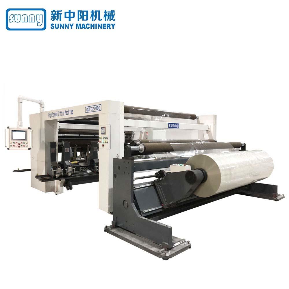 High Speed Digital Slitting Rewinding Machine (4 rewind stations) model GDFQ2500