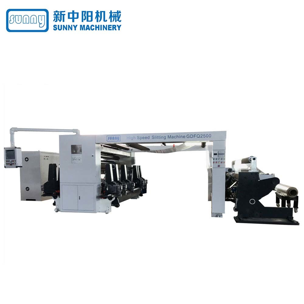 High Speed Quality Digital Slitting Line Machine (4 rewind stations) model GDFQ2500