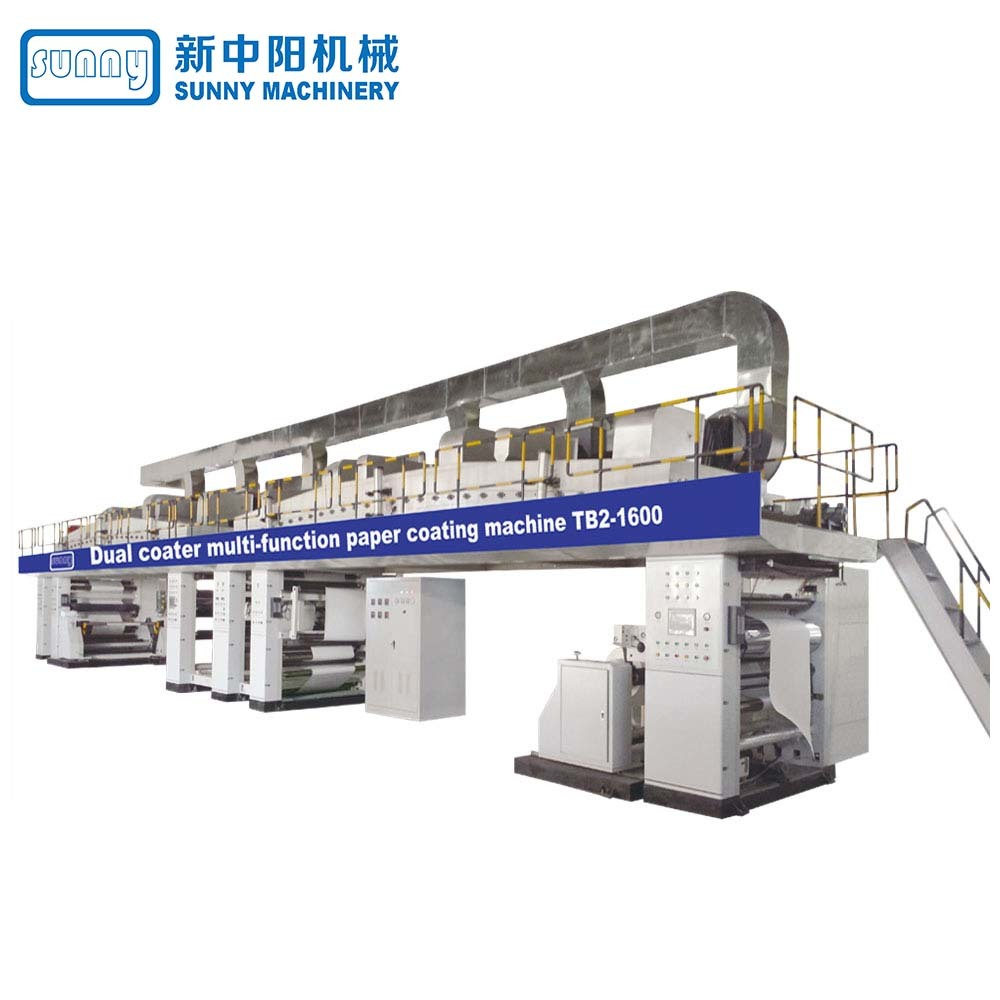 Dual coater paper coating amchine model TB2-1600