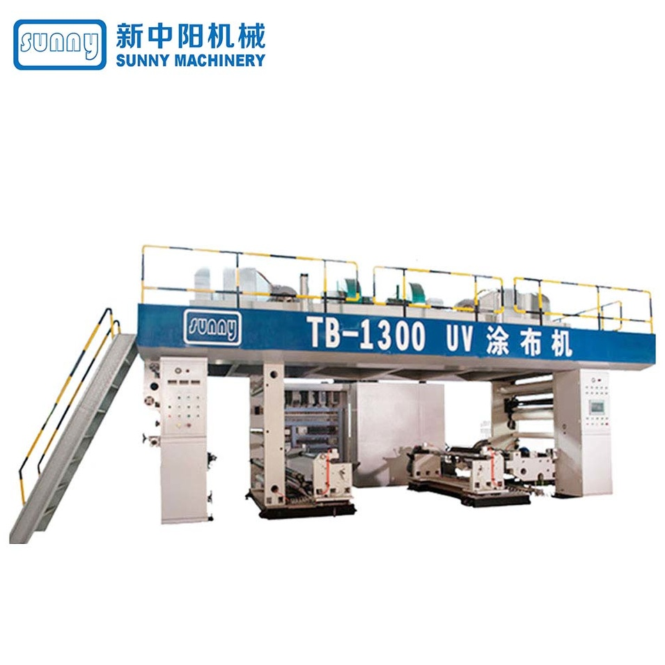 UV Coating Machine Model TB-1300 (single unwind and single rewind)