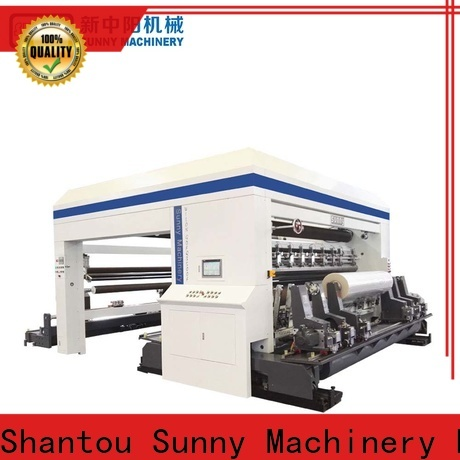 Sunny roll slitting rewinding machine supplier bulk production