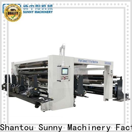 Sunny rewinder slitter machine roll customized bulk production
