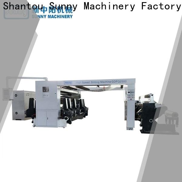 Sunny horizontal rewinder slitter machine manufacturer bulk production