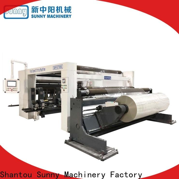Sunny jumbo slitting machines customized for factory