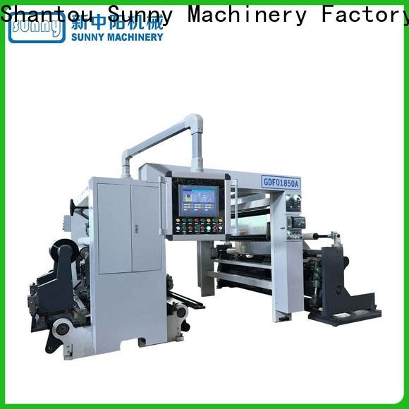 Sunny stations slitting rewinding machine supplier for factory