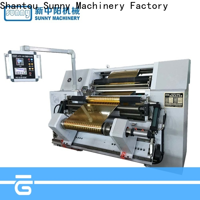 Sunny high quality rewinder slitter machine manufacturer for factory