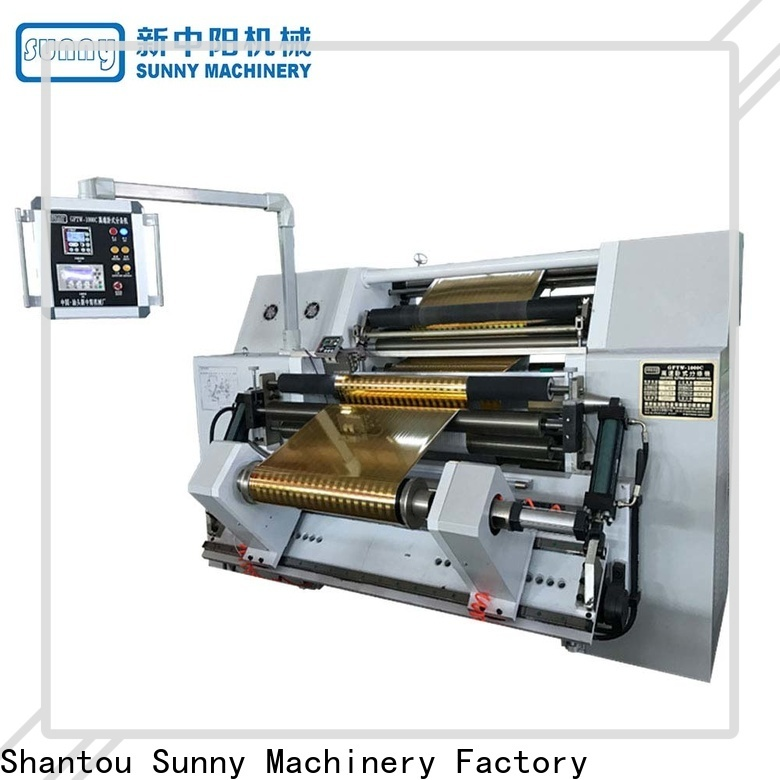 Sunny roll rewinder slitter machine customized for production