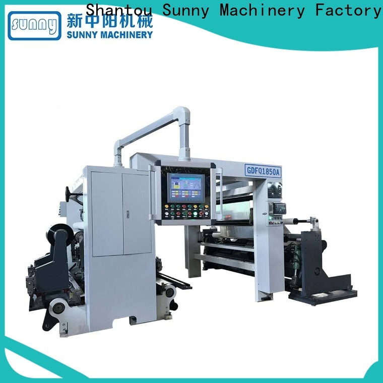 Sunny model rewinder slitter machine wholesale for production