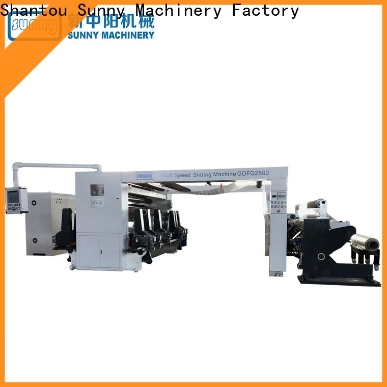 Sunny low cost rewind slitting machines customized for sale