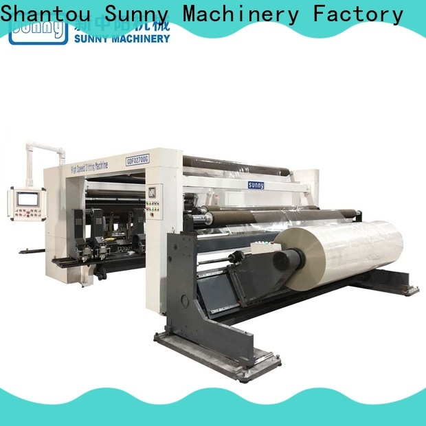 Sunny horizontal rewinder slitter manufacturer bulk production