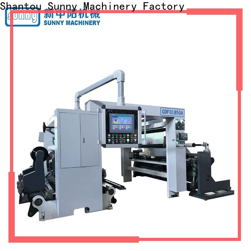 Sunny quality rewinder slitter machine customized for factory