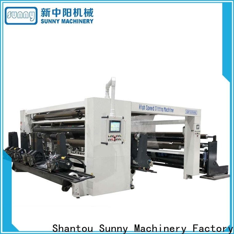 Sunny low cost rewinder slitter machine supplier bulk production