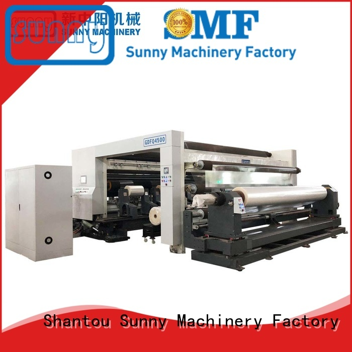 low cost thermal paper slitting and rewinding machine wholesale for production Sunny