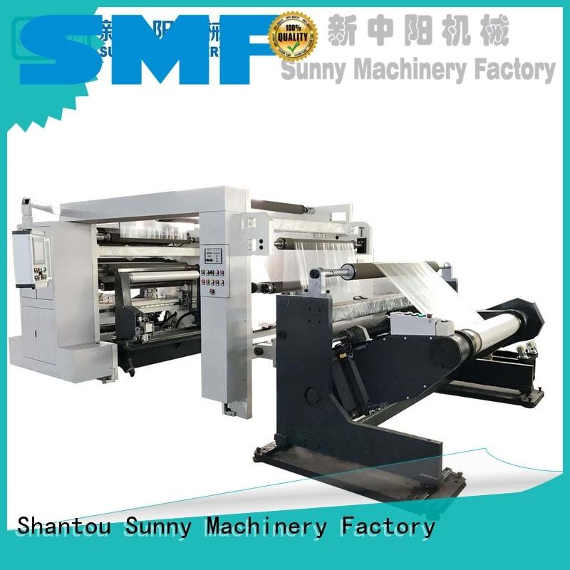 Sunny rewinder slitting machines supplier bulk production