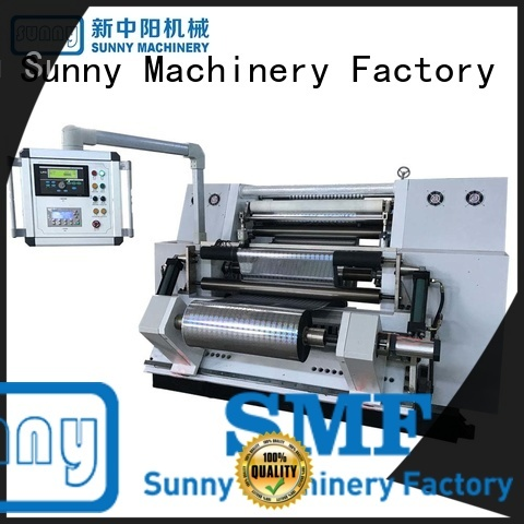 Sunny horizontal paper rewinder machine line for factory