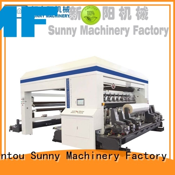Sunny roll rewinding machinery manufacturer for production