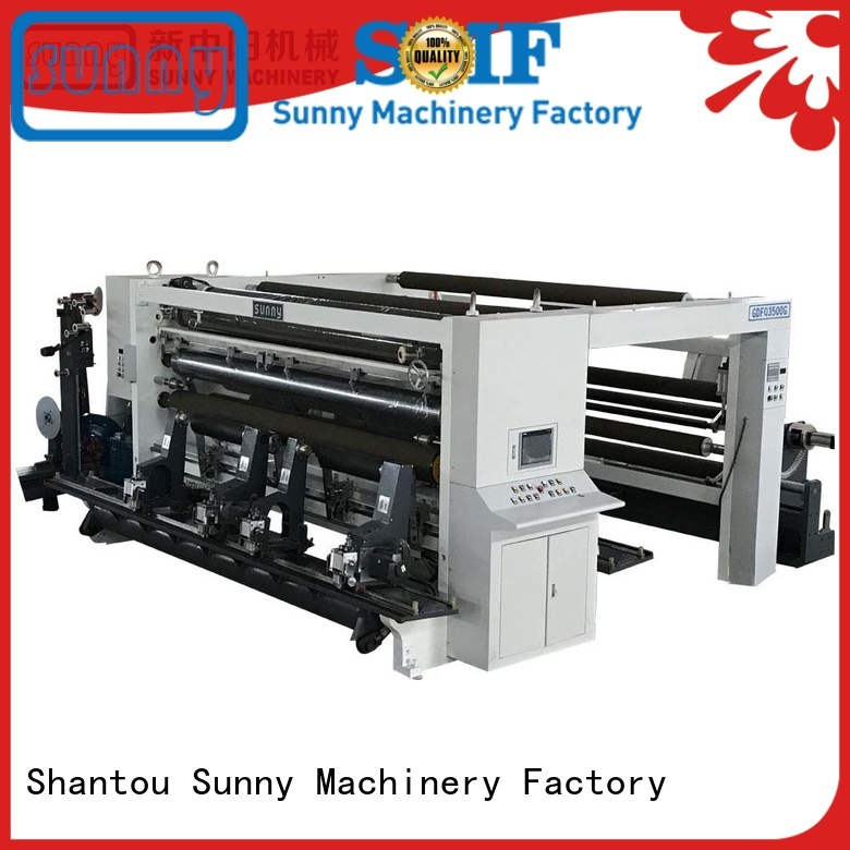 Sunny horizontal slitter rewinder machine supplier for production