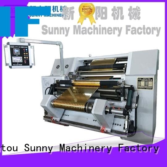 Sunny stations rewinder slitter manufacturer bulk production