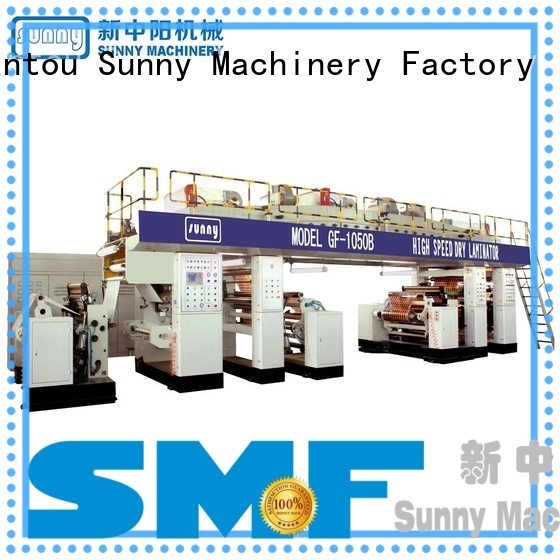 Sunny rewind dry laminating machine customized for factory
