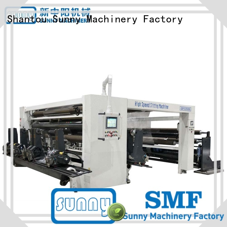 Sunny slitter rewinder machine stations customized for production