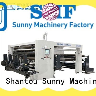 Sunny stations rewinder slitter supplier bulk production