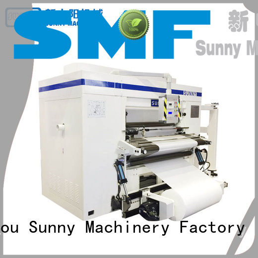 Sunny horizontal rewinder slitter supplier bulk production