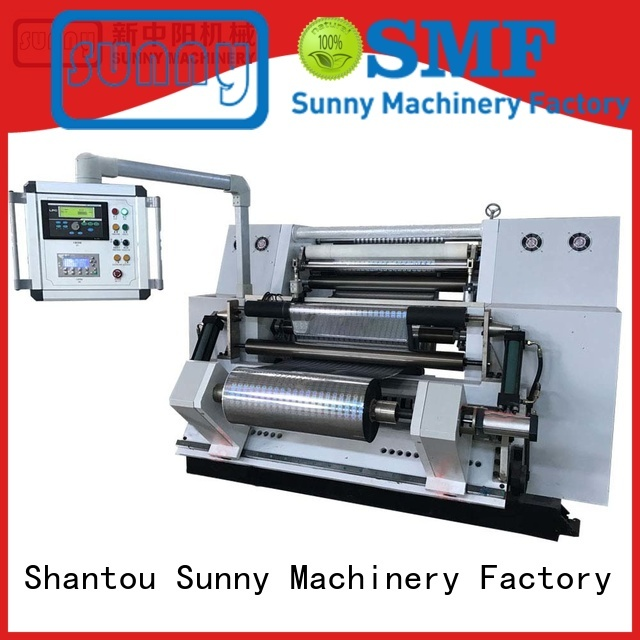 Sunny roll slitting and rewinding machine manufacturer for production