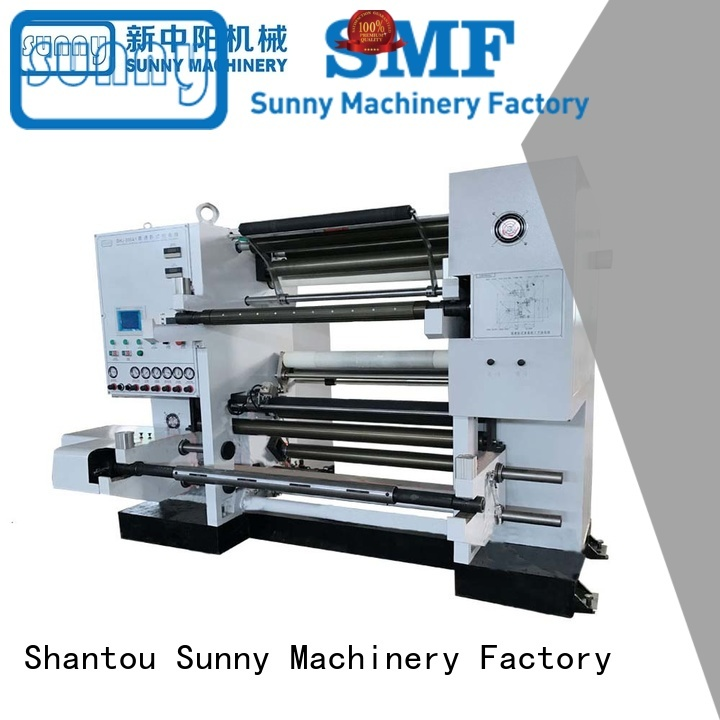 Sunny low cost aluminum foil slitting machine customized for factory
