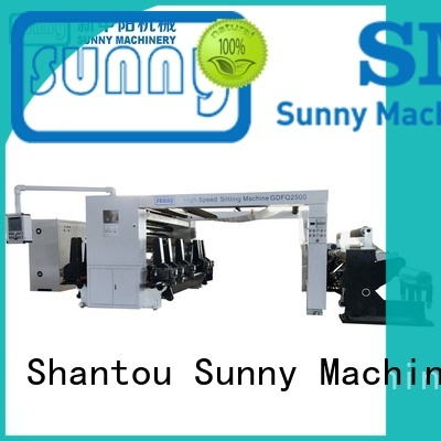 Sunny stations rewinding machinery customized for production
